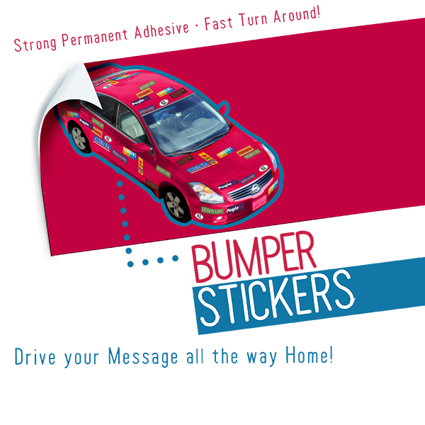 Custom Bumper Stickers Printing for Cars