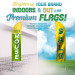 Custom Flags Brighten Up Your Brand Indoors & Out
