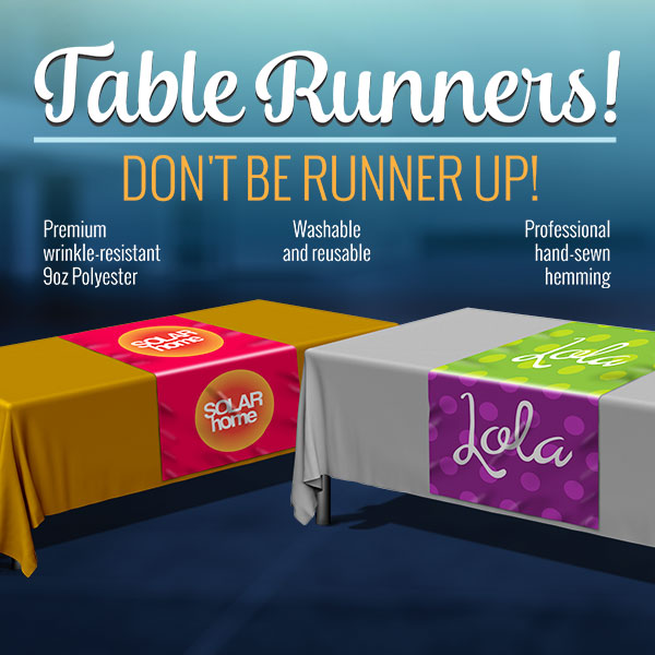 Custom Table Runner for Your Networking Events