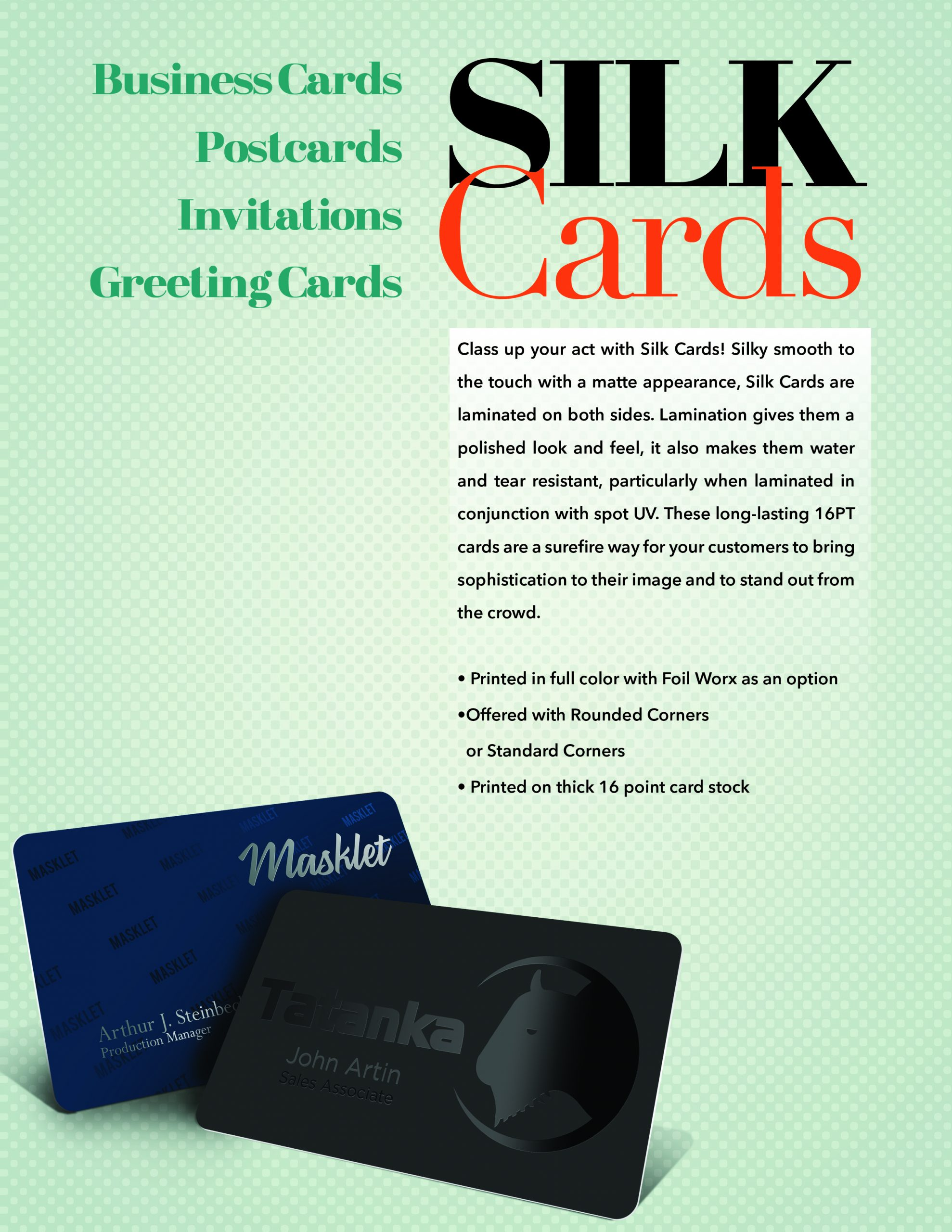 What's All the Hype about Silk Laminated Business Cards?