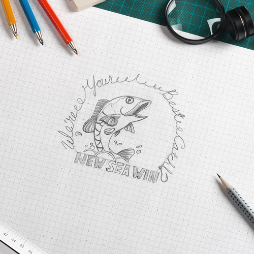 Custom Logo Design - Sketched Mock up