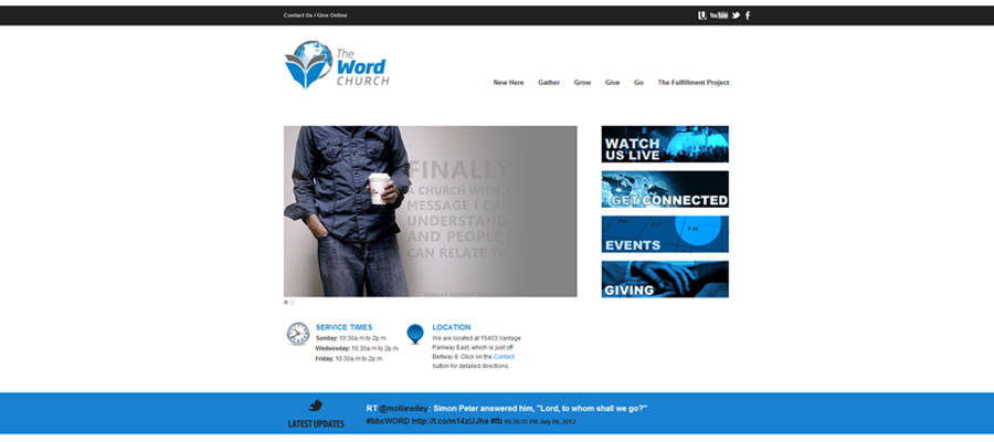 Web Design company portfolio the word church online