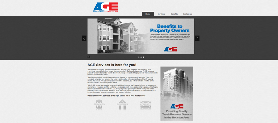 Web Design portfolio we really clean american garbage extractors